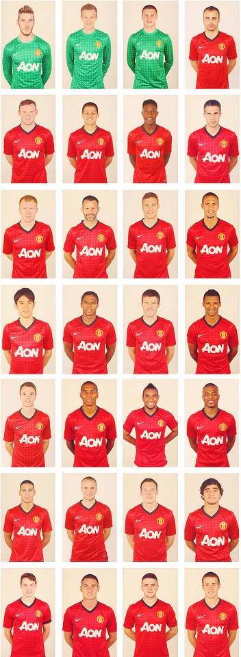 MANCHESTER UNITED Full Squad 2012/2013